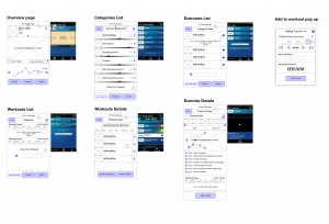 Wireframes for the Challengers app