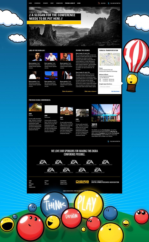 DiGRA Homepage Visual style
